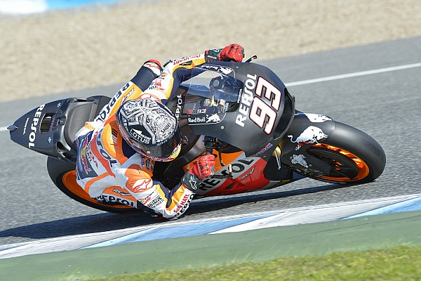 MotoGP Marquez suffers two crashes on final test day of 2015