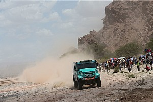 Dakar Stage report Dakar Trucks, Stage 9: IVECO duo De Rooy and Van Genugten dominate