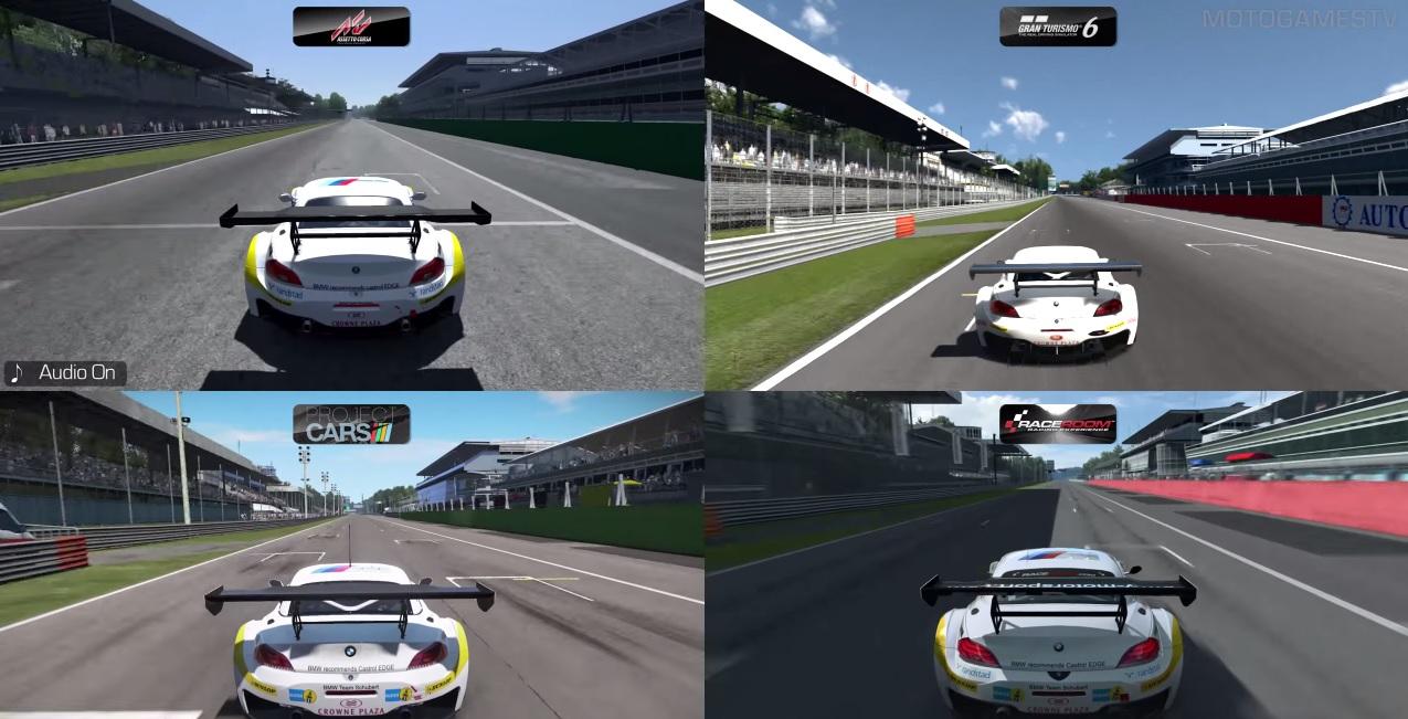Assetto Corsa Vs. GT6 Vs. Project CARS Vs. R3E: BMW Z4 GT3 – Monza