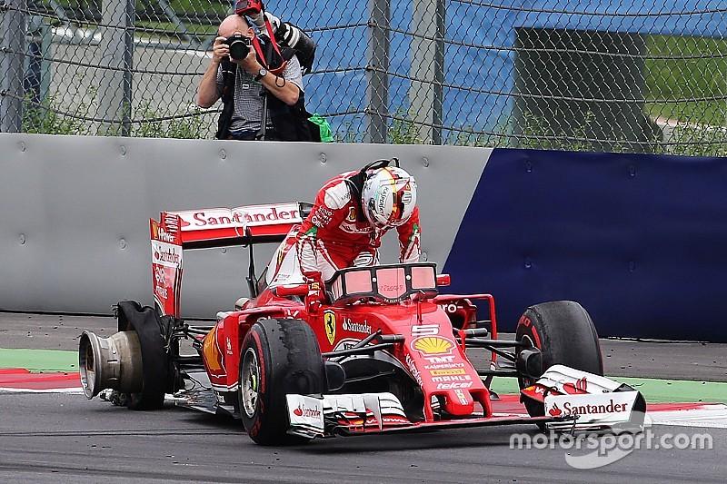 Pirelli - L'explosion du pneu de Vettel due à un débris