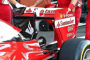 Ferrari a changé d'aileron arrière pour les qualifications