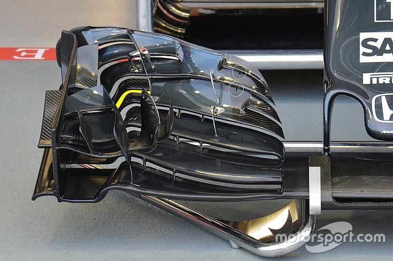 Técnica: alerón delantero del McLaren en Singapur