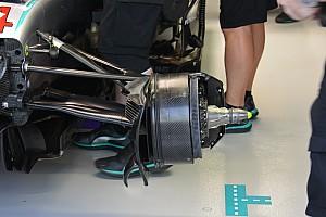 Técnica: configuración de frenos del Mercedes en Singapur