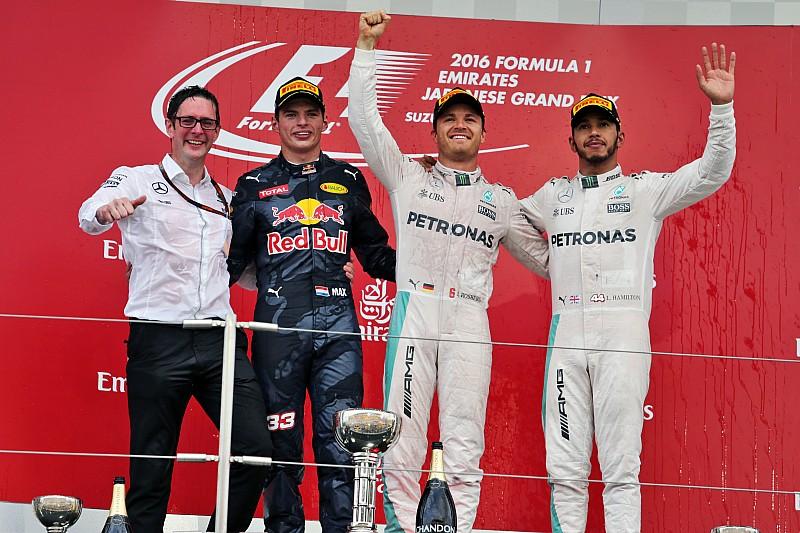 日本大奖赛正赛:罗斯伯格登顶铃鹿,梅赛德斯拿下车队总冠军