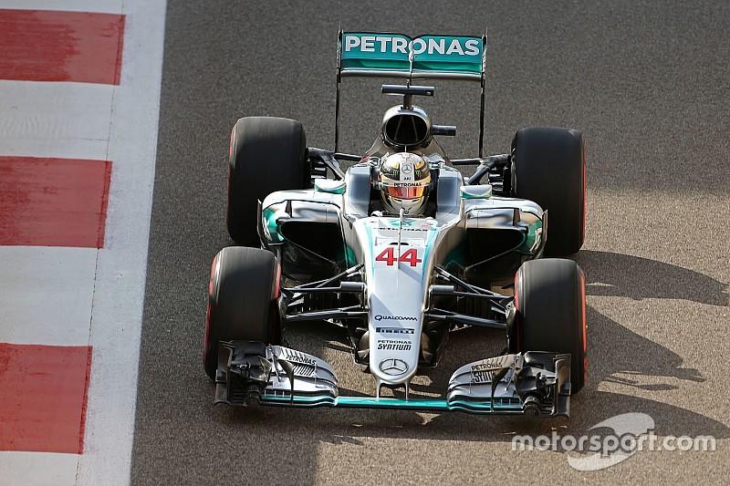 【F1アブダビGP】逆転王座を狙うハミルトン「マシンは絶好調。ここまでは完璧な週末」