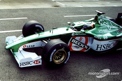 Tomas Scheckter in the Jaguar