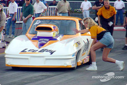 Quain Stott inches forward to the starting line in Pro Mod exhibition racing.  Stott went on to take the win in a competitive Pro Mod field.
