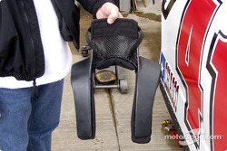 D Starr holding the Hans device