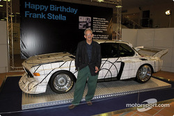 Friday, Frank Stella's 65th Birthday celebration: Frank Stella with the BMW 3.0 CSL