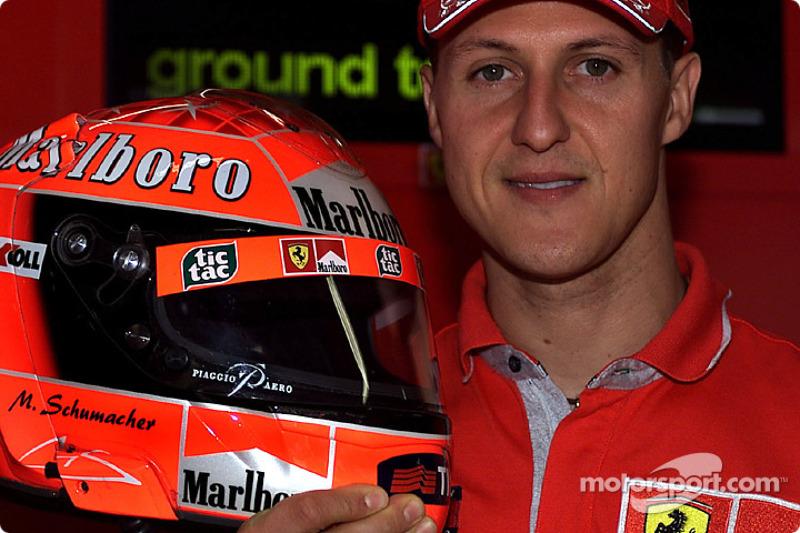 Piaggio Aero Industries on Michael Schumacher's helmet