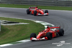 Michael Schumacher and Rubens Barrichello