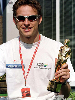 Jenson Button and his 'Bernie' award