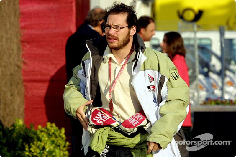 Jacques Villeneuve in the paddock