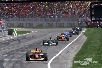 Battle in the first lap