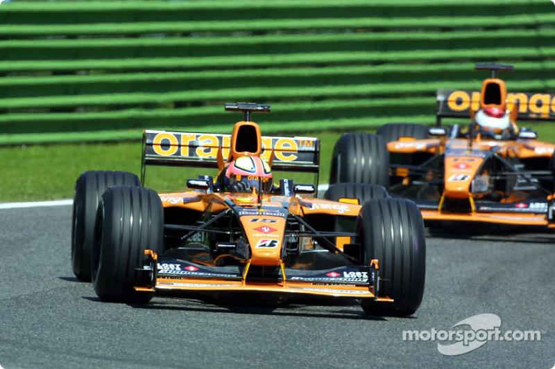 The Arrows: Luciano Burti and Jos Verstappen