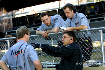 McLaren crew