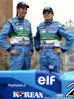 Jenson Button and Giancarlo Fisichella