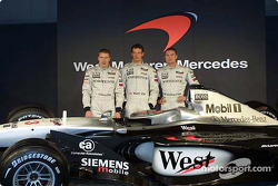 Mika Hakkinen, Alexander Wurz and David Coulthard