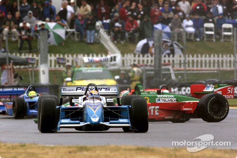 Patrick Carpentier and Adrian Fernandez in trouble