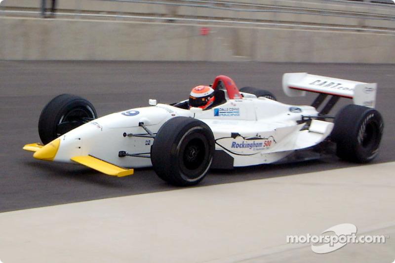 Johnny Herbert testing in a Dale Coyne Racing car