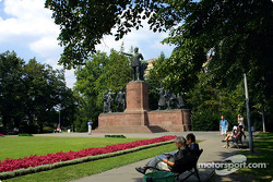 Park behind Parliament