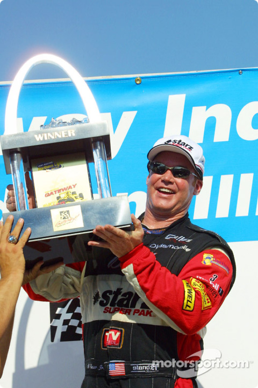 Al Unser Jr. and his trophy