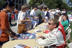 Autograph session at Cesar Chavez Park