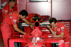 Team Ferrari getting ready for the weekend