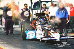 Larry Dixon still retains the point lead for top fuel