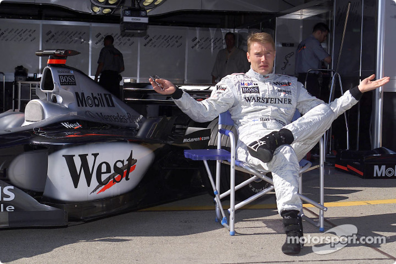 Mika Hakkinen waiting for the party to begin