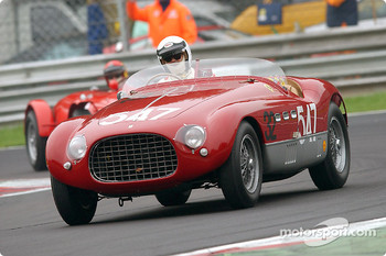 Umberto Camellini in the 1953 Ferrari 340 MM