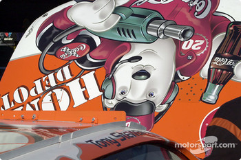 Funny graphic on Tony Stewart's car