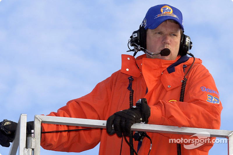 Tide Ford crew chief Mike Beam was ready for the below freezing temperatures in New Hampshire