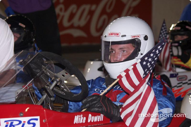 Pole winner Michael Dowell sits on the grid
