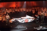Jacques Villeneuve and Olivier Panis with the new BAR Honda 004