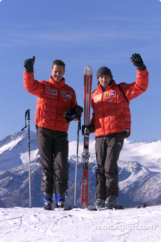 Michael Schumacher and Luca Badoer