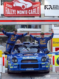 Subaru driver Tommi Makinen and co-driver Kaj Lindstrom