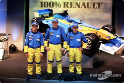 Jarno Trulli, Jenson Button and Fernando Alonso