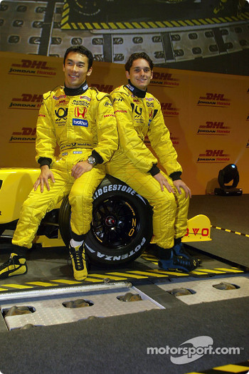 Takuma Sato and Giancarlo Fisichella