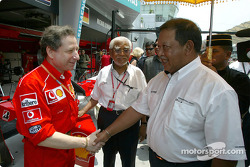Jean Todt and the King of Malaysia