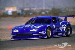The new style 2002 Johnson Controls Jaguar XKR driven by Paul Gentilozzi