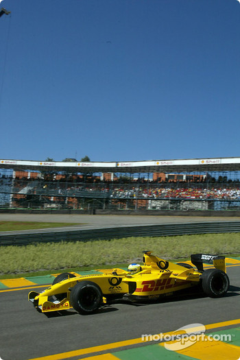 Giancarlo Fisichella in the warmup session