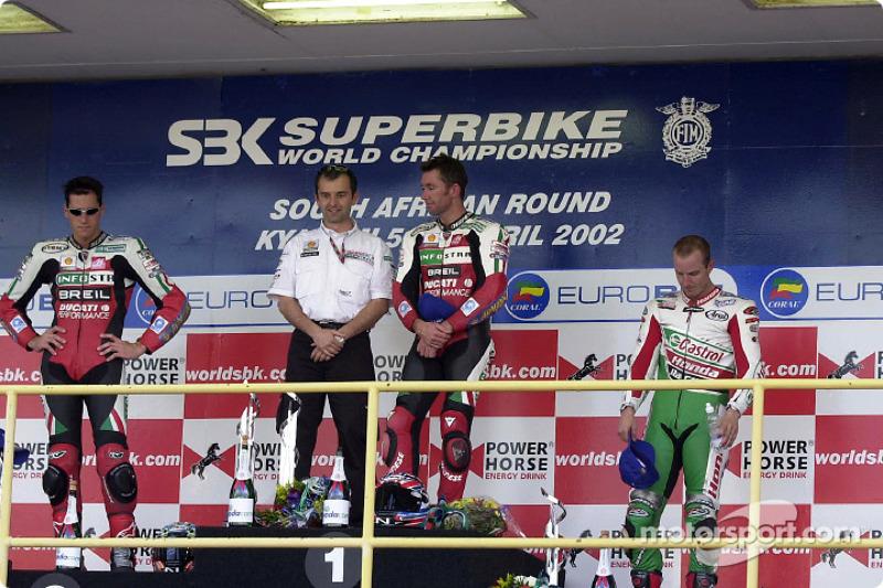 Race 2 podium: Troy Bayliss