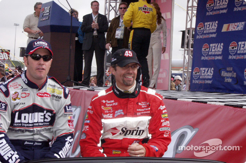Jimmie Johnson and Kyle Petty