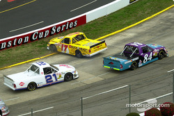 Darrell Waltrip had the distinction of getting the first yellow of the race