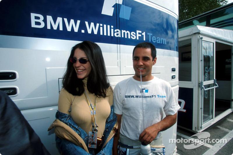 Juan Pablo Montoya and his fiancée