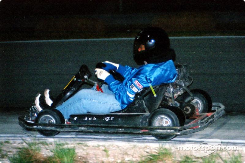 Linda Dame of BMW car club team/Tampa #10 puts in some nite laps