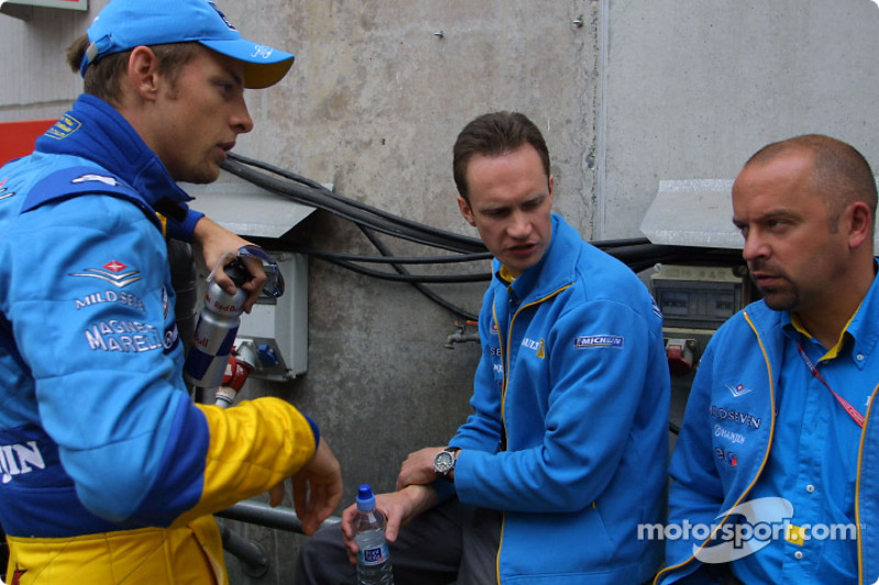 Jenson Button and Mike Gascoyne