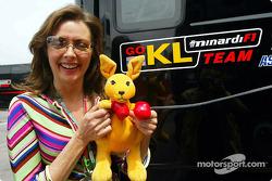 Team Minardi boxing kangaroo