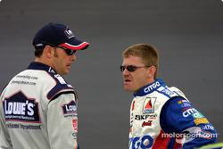 Jimmie Johnson and Jeff Burton
